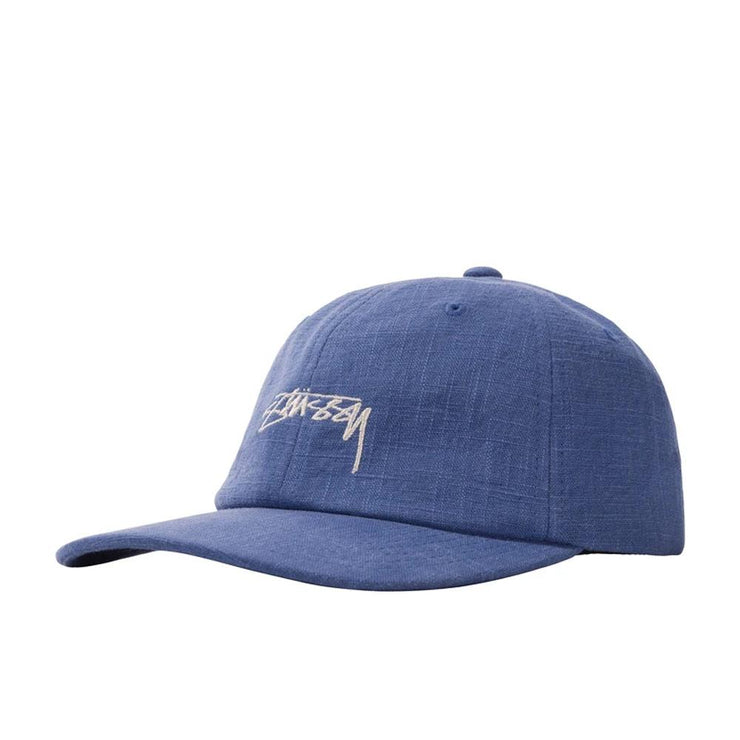 Textured Linen Low Pro Cap 'Blue'