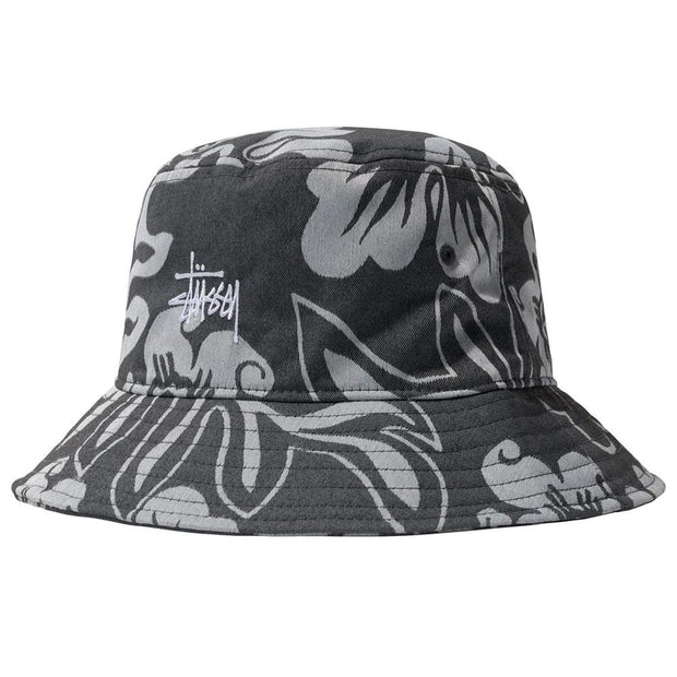 Nylon Hawaiian Bucket Hat 'White'