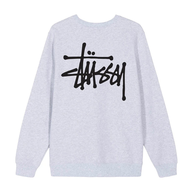 Basic Stussy Crew 'Ash Heather'