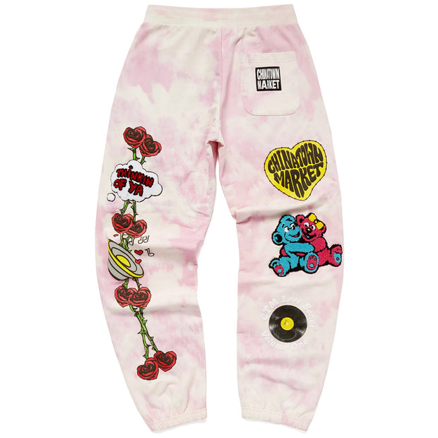 Be Mine Sweat Pants 'Pink Tie Dye'