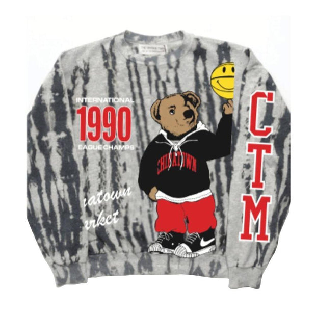 Smiley Champions Varsity Brea Crewneck 'Grey'