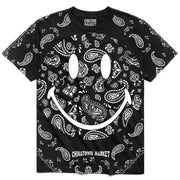 Smiley Paisley Tee 'Black'