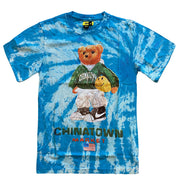 Smiley Sketch Basketball Bear Tee 'Tie Dye'