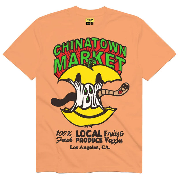 Smiley Local Produce Apple Tee 'Peach'
