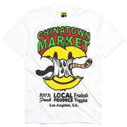 Smiley Local Produce Apple Tee 'White'