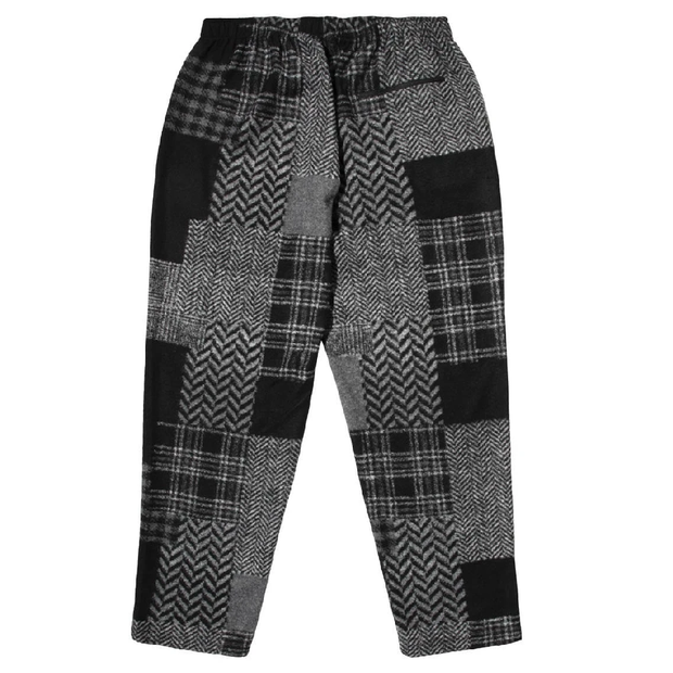 Jog Pant 'Black Grey Knit Patchwork'