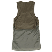 Long Fowl Vest 'Olive Cotton Herringbone'