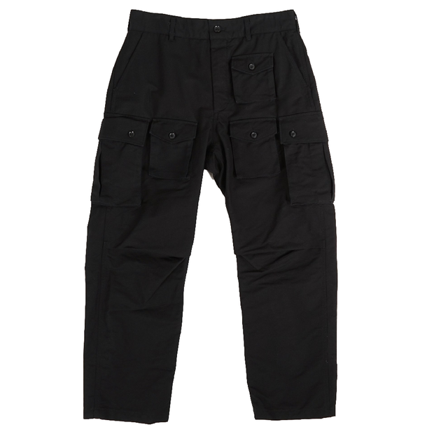 FA Pant 'Black Cotton Double Cloth'