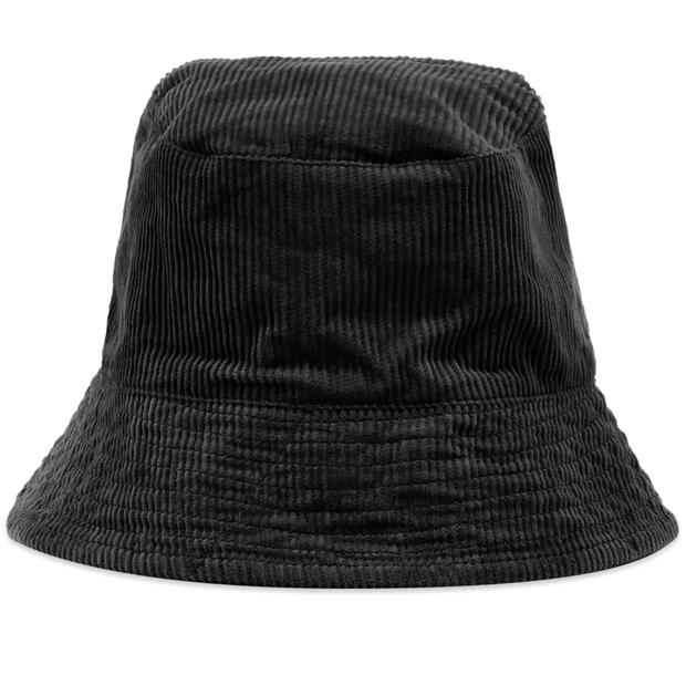 Bucket Hat 'Black Cotton 8W Corduroy'