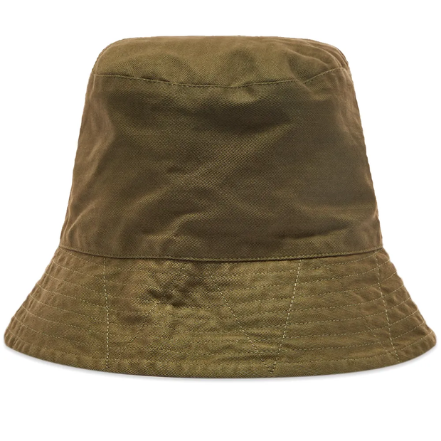 Bucket Hat 'Olive Cotton Herringbone'