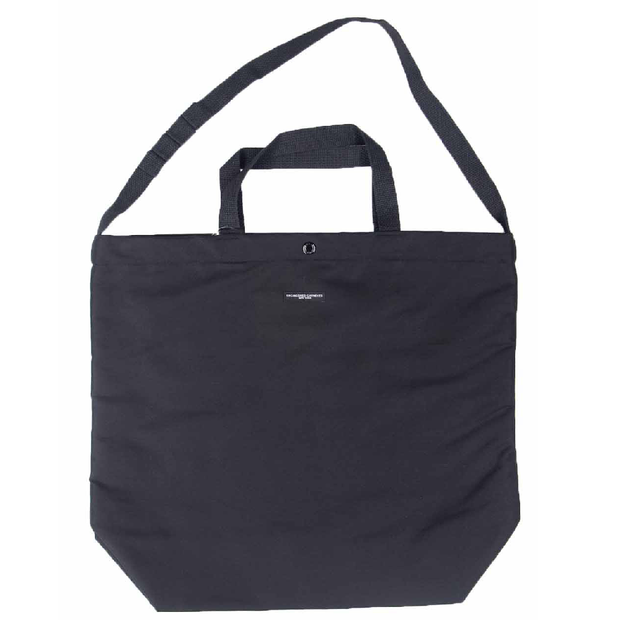Carry All Tote 'Black Cotton Double Cloth'