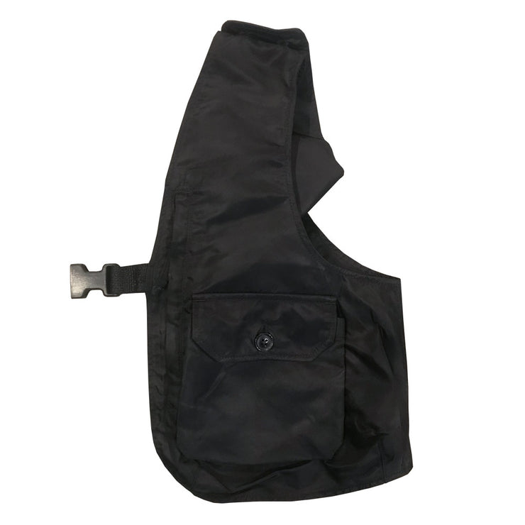 Shoulder Vest 'Black Flight Satin Nylon'
