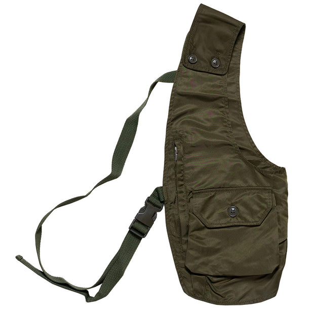 Shoulder Vest 'Olive Flight Satin Nylon'
