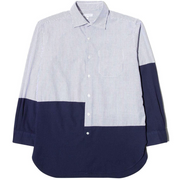 Spread Collar Shirt 'Natural Blue Dobby'