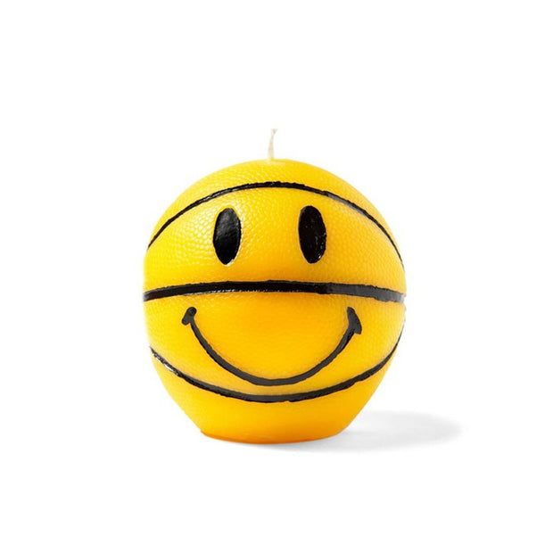 Smiley Mini Basketball Candle 'Yellow'