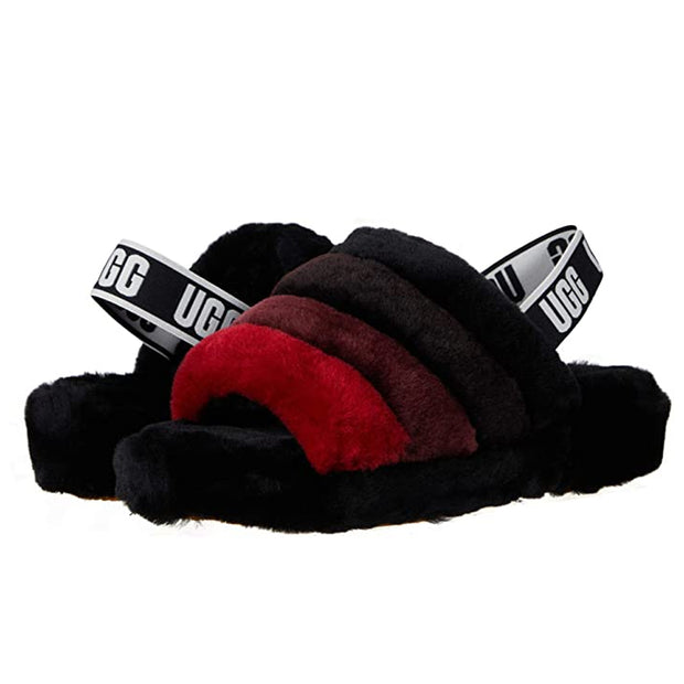 Women's Fluff Yeah Slide 'Black Multi'