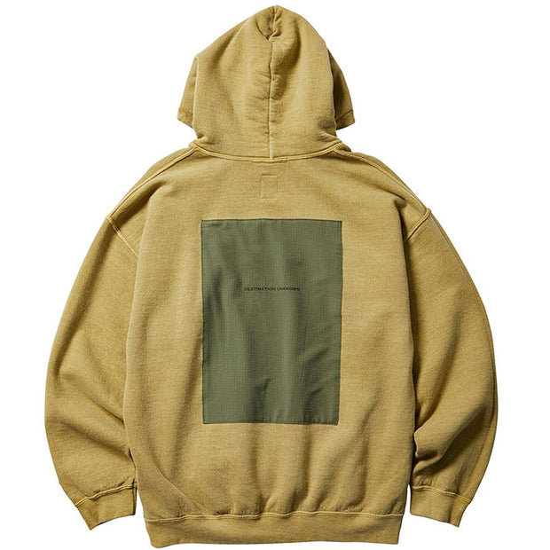 Patchwork Pullover Hoodie 'Sand'