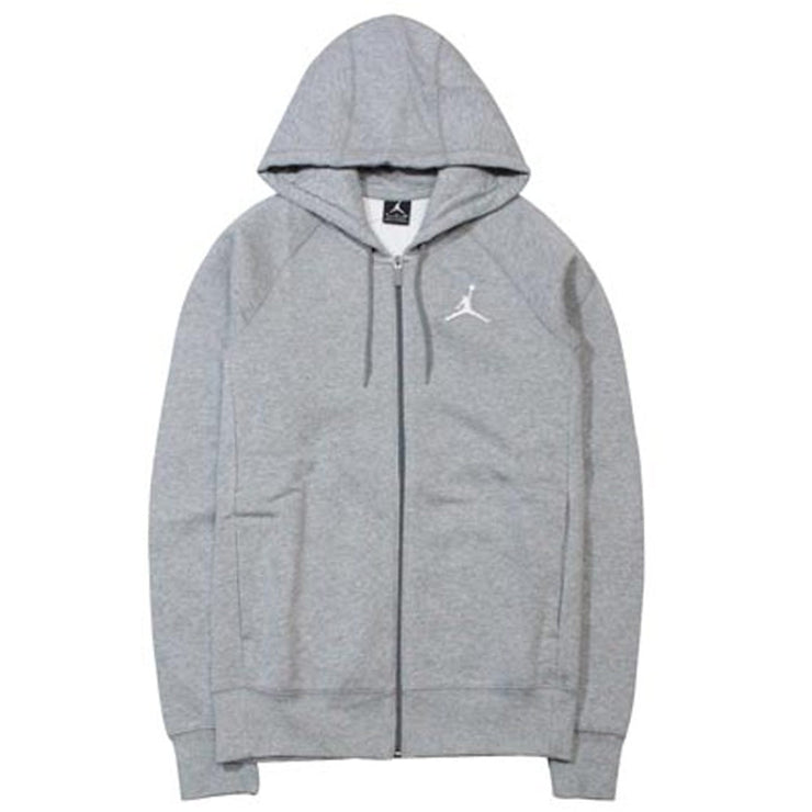 Jordan Flight Fleece F/Z Hoodie 'Grey'