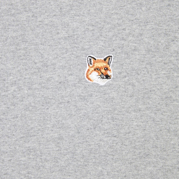 Tee-Shirt Fox Head Patch 'Grey Melange'