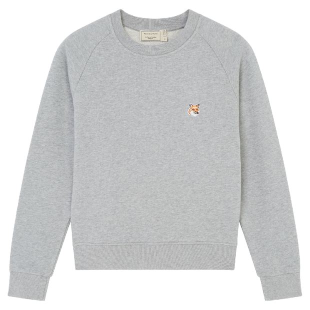 Fox Head Patch Adjusted Sweatshirt 'Grey Melange'
