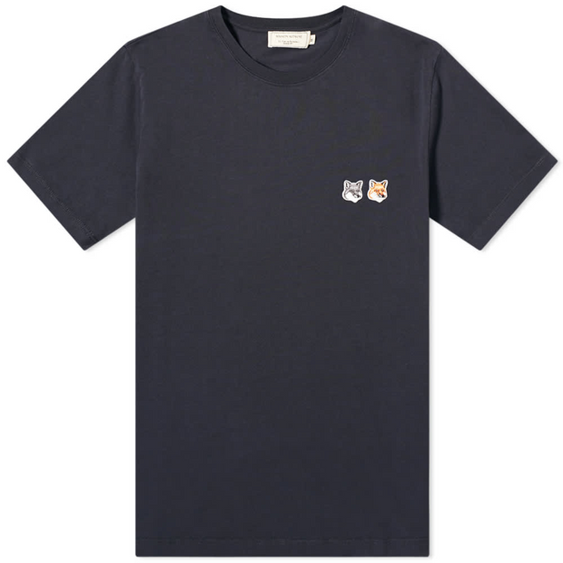 Double Fox Head Patch T-Shirt 'Anthracite'