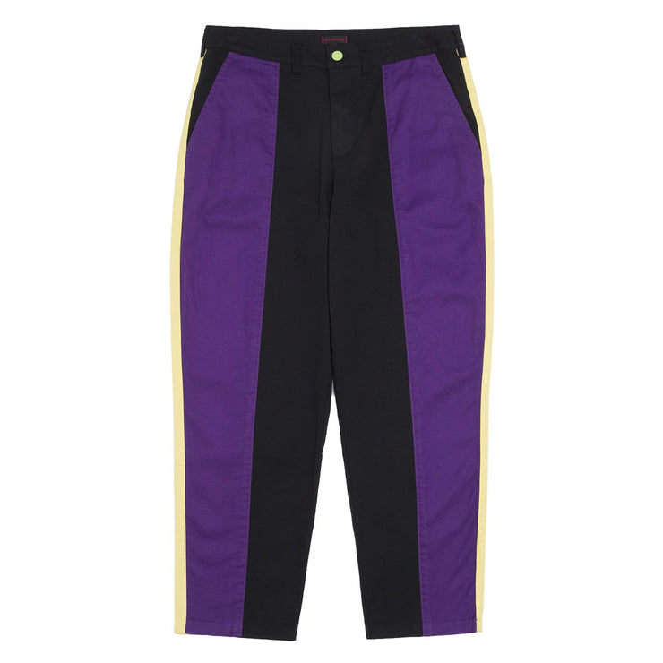 Contrast Color Tapered Pants