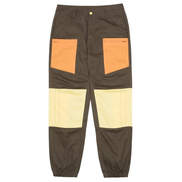 Contrast Patched Panel Pants