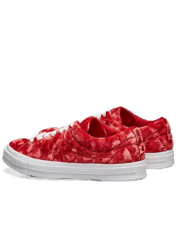 One Star Ox Golf Le Fleur TTC Quilted Velvet 'Barbados Cherry'