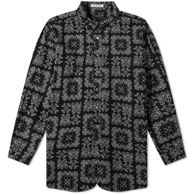 19 Century BD Shirt 'Black Sheeting Bandana Print'