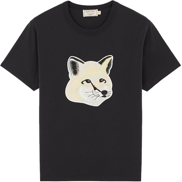 Pastel Fox Head Embroidery T-Shirt