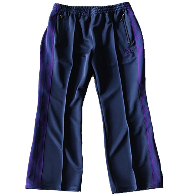 Boot-cut Track Pant Poly Smooth 'Navy'