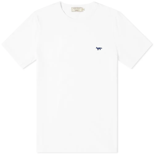 Navy Fox Patch Classic Tee-Shirt 'White'
