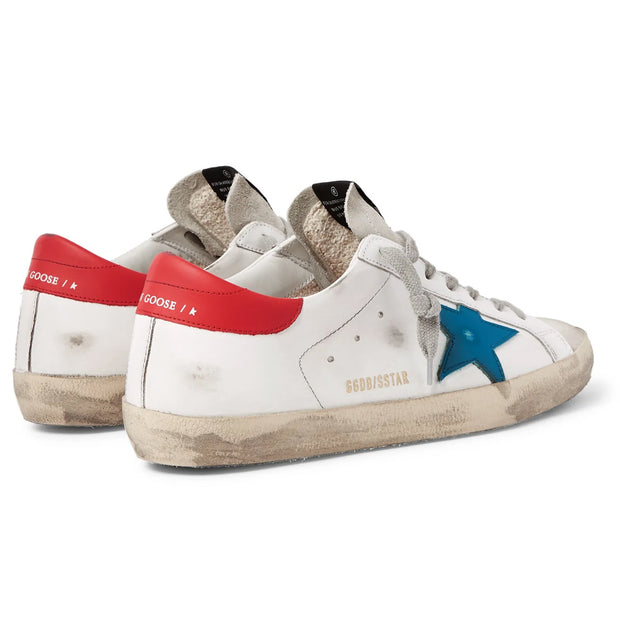 Sneakers Superstar 'White & Red Leather / Blue Star'