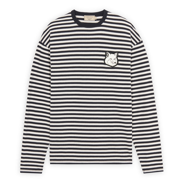 Marin Regular Long-Sleeved Tee-Shirt 'Dark Navy Stripe'