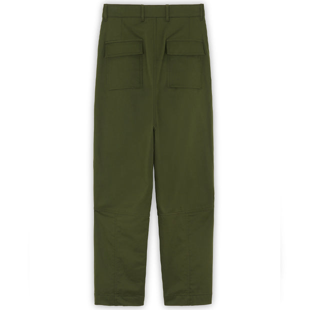 Patched Pockets 2 Pleats Pants 'Khaki'