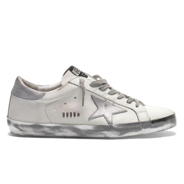 Superstar Leather Upper Laminated Star Metal Lettering 'White / Silver'
