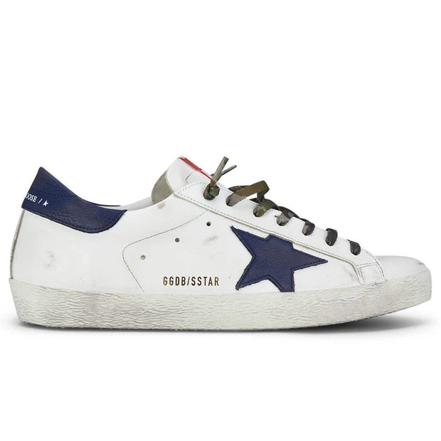 Superstar Leather Upper Nabuk Star And Heel 'White / Night Blue'