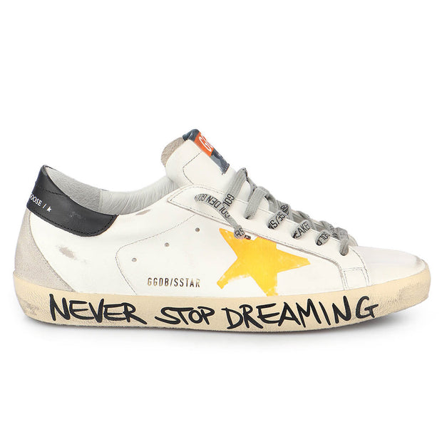 Superstar Leather Upper Print Star Signature Foxing 'White / Orange / Ice / Black'