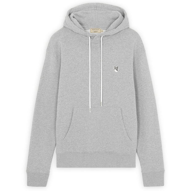 Grey Fox Head Patch Classic Hoodie 'Grey Melange'