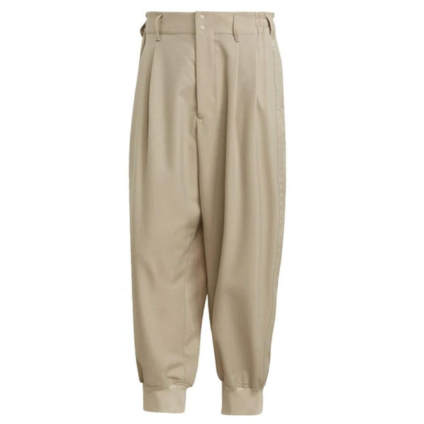 Y-3 Classic Refined Wool Stretch Cuffed Pants 'Sand'