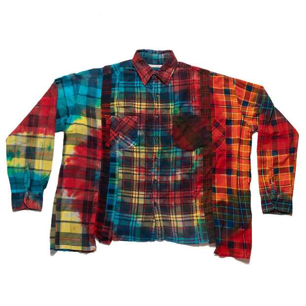 Flannel Shirt - 7 Cuts Wide Shirt 'Tie Dye'