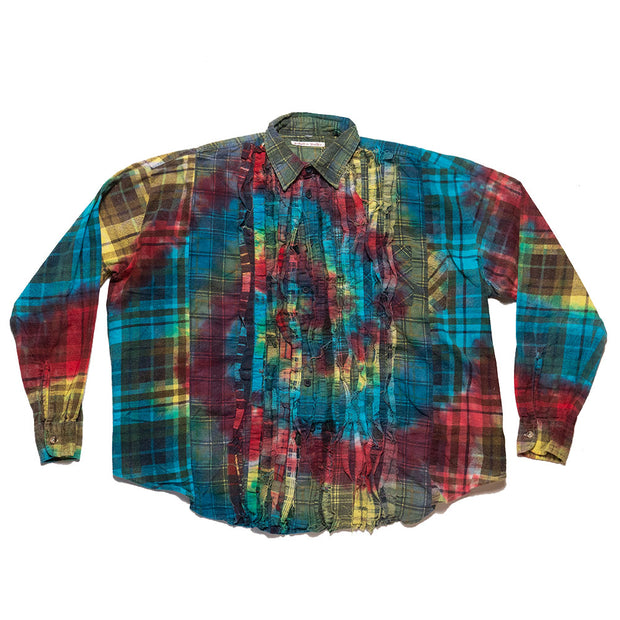 Flannel Shirt - Ribbon Wide Shirt 'Tie Dye'
