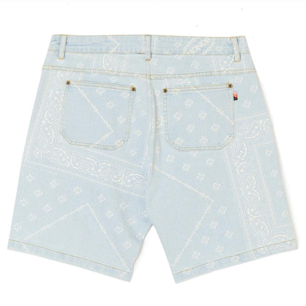 Bandana Shorts 'Light Wash Denim'