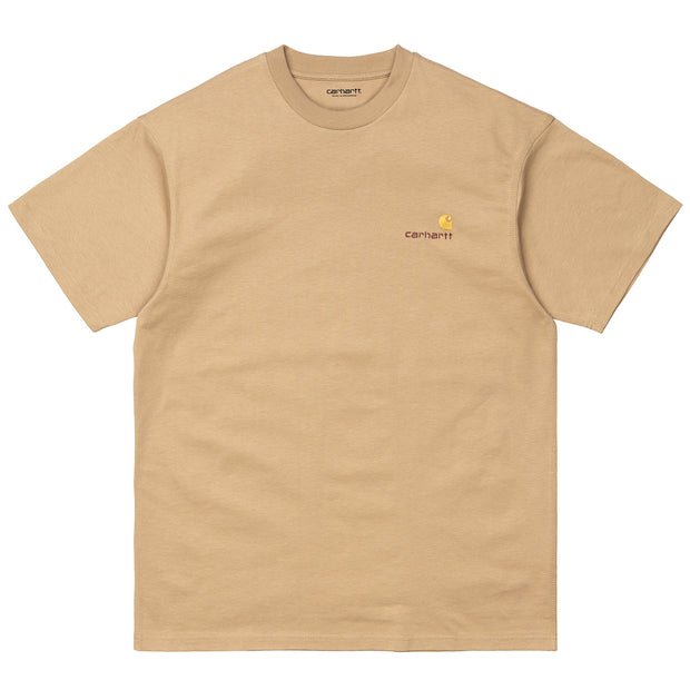 S/S American Script T-Shirt 'Dusty Hamilton Brown'