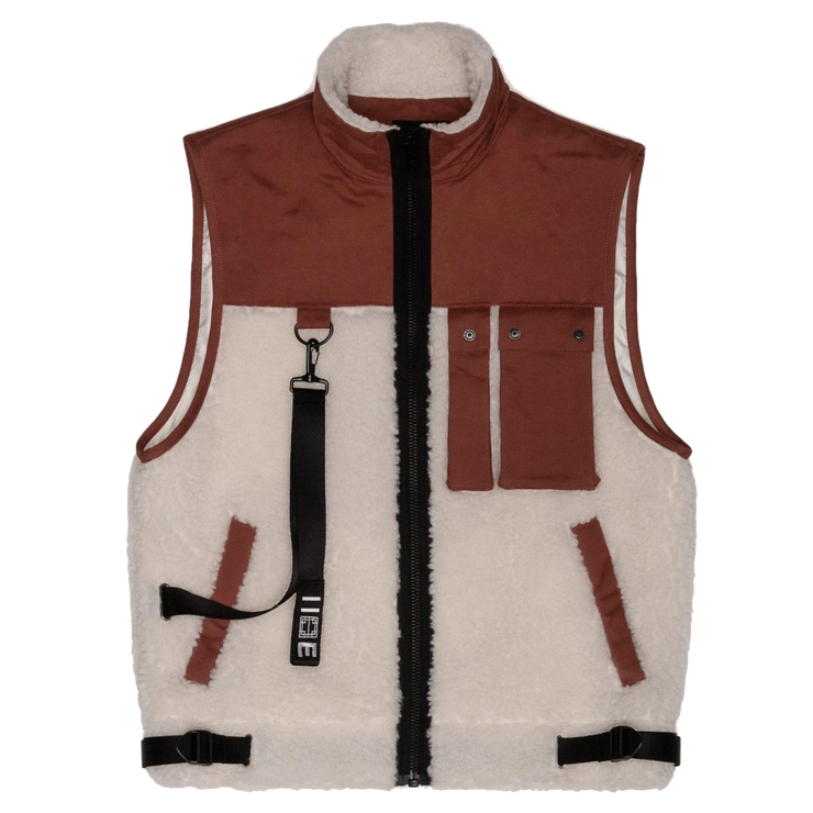 Sherpa Vest 'Copper / Off White'