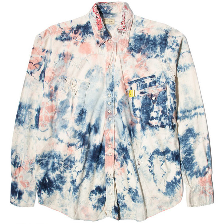 Shirt Denim Western Shirt Tie-Dye