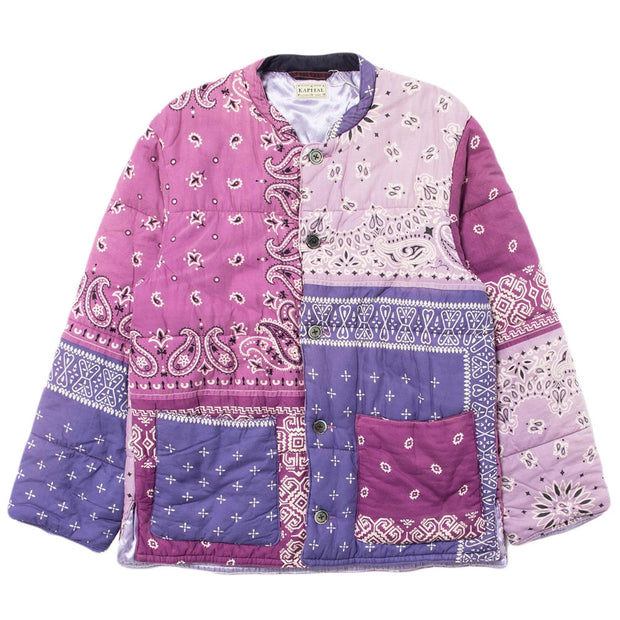 Gauze Bandana Patchwork Quilt SAMU Work Blouson 'Light Purple'