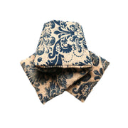 IDG Flannel x Fleece Damask KESA Scarf (wide) 'Indigo'