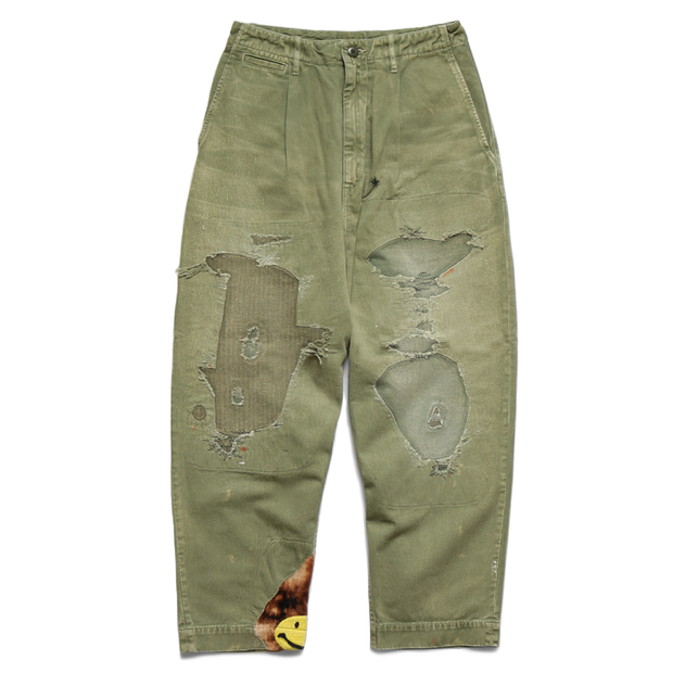 Patchwork Trousers 'Khaki'