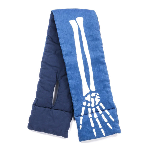 French Cloth Linen KESA Scarf (BONE) 'Indigo'